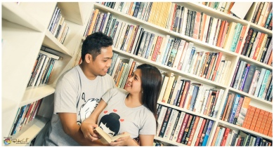 Library Themed Prenup, Best Places in Cebu for Prenup, Cebu Wedding Photographer, La Belle Bookshop Prenup