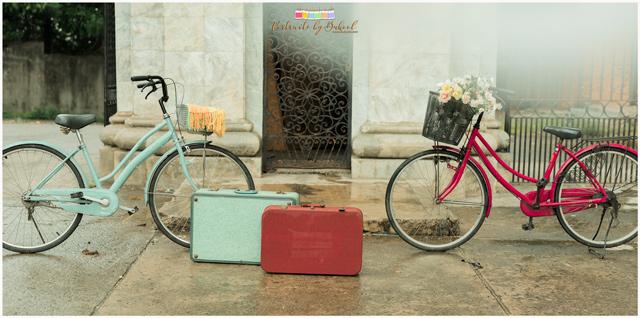 vintage themed prenup, rain prenup, vintage bicycle, good shepherd cebu prenup, liz cinco hair and makeup artist, bukoolfilms wedding video, portraits by bukool, cuckoo cloud concepts