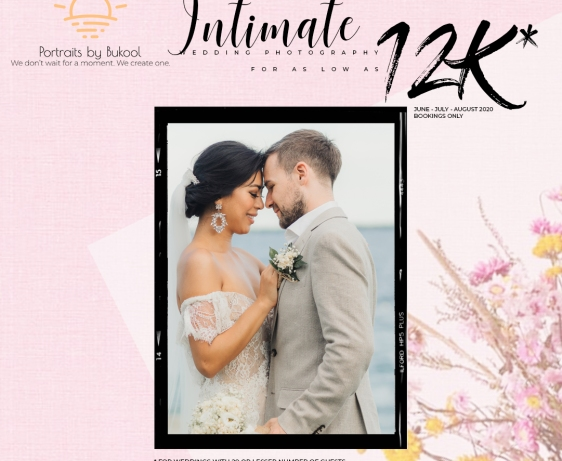 wedding photography rate, intimate wedding package, covid-19